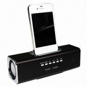Aluminum Multifunction Portable Docking Mini Speaker for iPhone/iPod Manufactures