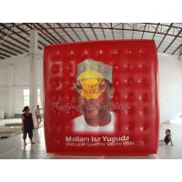 Red Reusable durable helium cube balloon with Full digital printing for Sporting events Manufactures