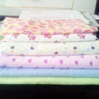 100% Yarn-dyed Flannel Cotton Fabric, Printed, White, Plain, Ideal for Ladies