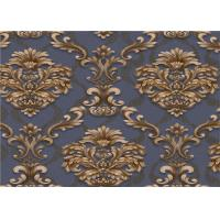 Classical Damask PVC Vinyl Wallpaper Waterproof For Interior Room Decoration Manufactures