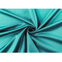 China Flexible 84% Nylon Spandex Fabric For Swimwear Peacock Green Color 210GSM on sale