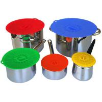 Food Fresh Silicone Cooking Lids For Bowls , Eco - Friendly Silicone Cup Lids Manufactures