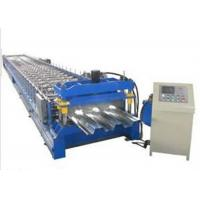 Galvanized Sheet Floor Deck Roll Forming Machine 0.8 - 1.2mm Thickness Plate Manufactures