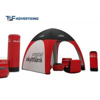 China Small Inflatable Advertising Tent , Inflatable Tailgate Tent Commercial Grade Sewing Style on sale