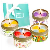 Customized Logo Home Scented Candles Home Fragrance Candles Luxury Four Piece Gift Set Manufactures