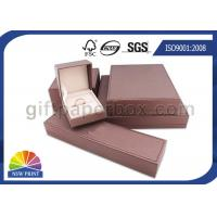 Small Paper Jewelry Box Custom Gift Packaging Box with Foam Inside , Matt Lamination Manufactures