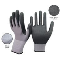 15 Gauge Seamless Knit Nylon Spandex Micro Foam Nitrile Gloves For Industrial Safety Work Manufactures