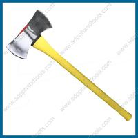 China chrome plate double bit axe with fiberglass handle, 3.5LB double bit axes, 36 inch handle on sale