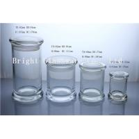 a series of different size glass jars for candles in stock Manufactures