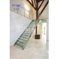 Stainless Steel Stair Railing Laminated Glass Staircase Manufactures