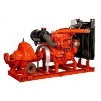 80hp irrigation water diesel engine fire pump Base Mounted 60hp Suction Flapper 100GPM Manufactures