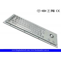 China Ruggedized Panel Mount Metal Keyboard With Trackball / Stainless Steel Keyboard wholesale