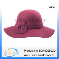 Hot selling women wide brim floppy hat Manufactures