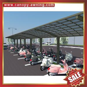 public shopping mall sun rain polycarbonate aluminium alloy bicycle bike motorcycle shelter carport canopy awning Manufactures