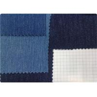 Indigo / Black Denim Spandex Fabric For Garment / Pants / Shirt Manufactures