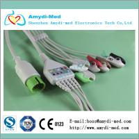 Buy cheap Spacelabs round 17 pin 5 lead ECG cable grabber clip end AHA standard from wholesalers