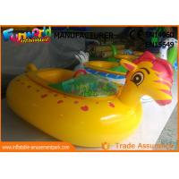 Adult Electric Inflatable Boat Toys , Animal Shape Motorized Inflatable Bumper Boats Manufactures