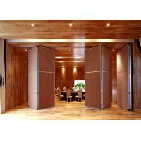 Acoustic Sliding Partition Wall Aluminum Eco - Friendly For Hotel Restaurant Manufactures