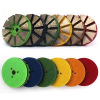Round Concrete Diamond Floor Pads , Metal Polishing Pad For Marble Floor Manufactures