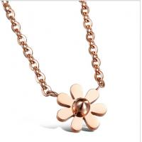 Drjobson Jewelry rose gold titanium steel rose flower necklace-N02 Manufactures