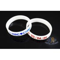 Multi Colored Custom Plastic Bracelets Embossed Silicone Wristbands For Events