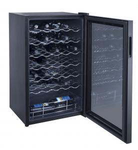 34 Bottles 98L Wine Cooler Single Zone (compressor Wine Cellar) Manufactures