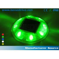 Round Plastic LED Solar Road Studs Raised Pavement Markers 10 Ton Pressure Resistance Manufactures