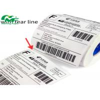 QR Code Adhesive Thermal Transfer Label Rolls Barcode 3M PET Label Material Manufactures