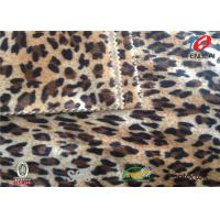 China Waterproof Leopard Print Velvet Fabric , Velvet Furnishing Fabric Custom Pile Height on sale