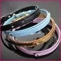 2012 New Flashion Woven Optic Fiber Flash Collar For large dog Manufactures