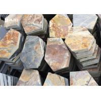 Rusty Yellow Slate Stepping Stones For Flooring , Outdoor Garden Slate Stones Manufactures