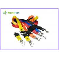 China Custom colors promotional Lanyard USB Flash Drives 4GB / 8GB for Students of the University on sale