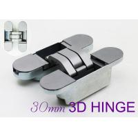 Quality 60kgs Loading Zinc Alloy Adjustable 3d Invisible Hinges For Wood Door for sale
