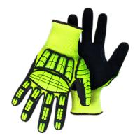 Sandy Nitrile Coating Cut Proof Work Gloves Mechanic Cut Resistant Safety Gloves Manufactures