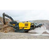 China Track Mobile Rock Crusher Hydraulic Driven Employing Fully Rigid Board Structure for sale