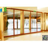 Sliding Aluminum Glass Partitions Wall 10 mm Glass for Home Manufactures
