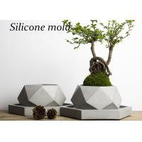 V001 Creative Polygon Vase Silicone Concrete Mold Geometry Cement