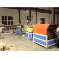 China 63mm Braided Hose PVC Pipe Extrusion Line , Plastic Pipe Manufacturing Plant on sale