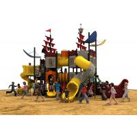 new designe pirate ship  slide and  outddoor playground equipment big set for park Manufactures