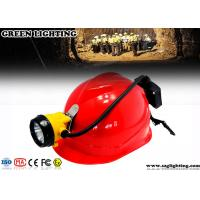 15000 Lux Led Miners Cap Lamp , 6.8AH Customized Semi - Corded Led Mining Lamp  Manufactures