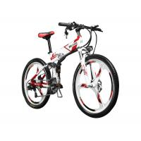 26 inch Folding Mountain Electric Bike With Suspension and Shimano Derailleur Manufactures