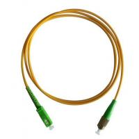 Quality FC/APC-SC/APC 9/125 Simplex Fiber Optic Patch Cord for sale