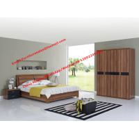 Walnut panel Storage bed by life device in Apartment Furniture set with open door closet Manufactures