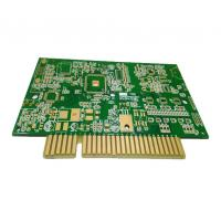 6 Layers Custom Printed Circuit Board High TG FR4 Multilayer PCB With Golden Finger Manufactures