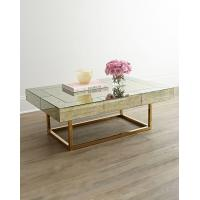 Mirror Furniture Metal Geometric Frame Coffee Table Console table with Stainless Steel Base Manufactures