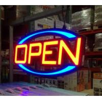 RGB Lighted LED Open Sign Outdoor Oval Shaped Animated Motion Display Manufactures