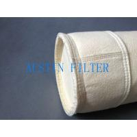 China Steel plant casting house dust filter bag DN125x2500 polyester needle punched material on sale