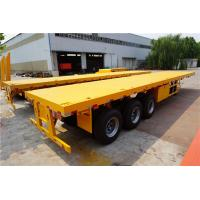 Quality 3 axles 40 ft 60ft extendable flatbed truck trailer for sale for sale