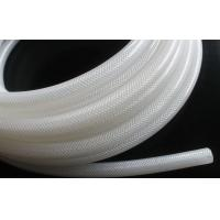 High Purity Fiber Braided Silicone Tubing No Smell Translucent Natural Color Manufactures