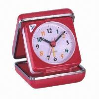 Traveling Alarm Clock, Made of Plastic, Customized Colors, Designs and Printings Accepted Manufactures